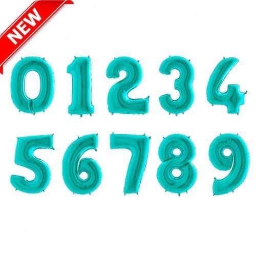 Фольгированные шары-цифры из фольги, Тиффани - фото 1