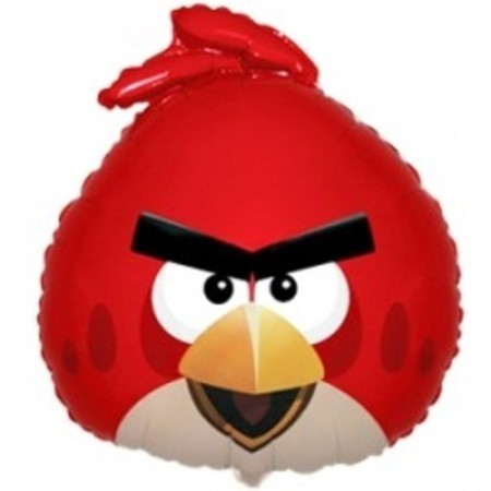 """Воздушный шар """"Angry Birds"""" красная птица с гелием - фото 1"""