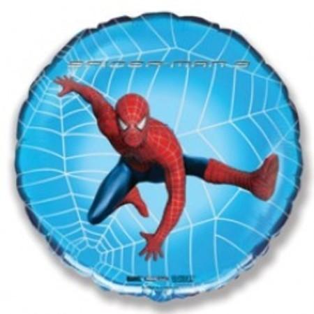 """Круглый фольгированный шар """"Человек-паук в паутине"""" - фото 1"""
