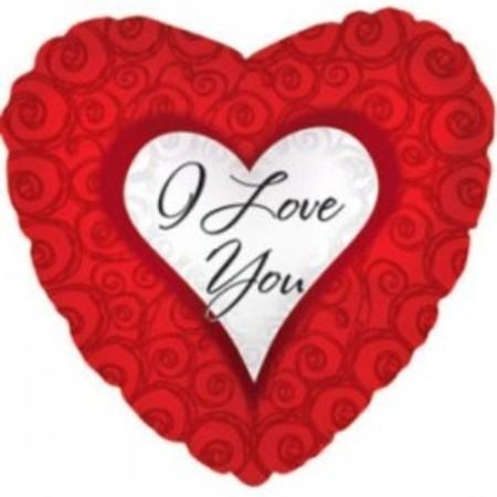 "Шар сердце из фольги ""I love you"" - фото 1"
