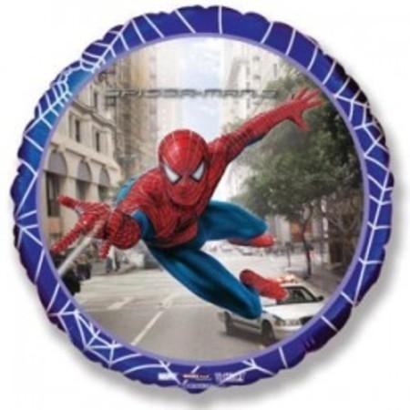"""Гелиевый шар """"Человек паук на страже"""" из фольги - фото 1"""