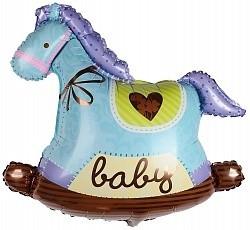 """Воздушный шар в виде качалки """"Голубая лошадка"""" - фото 1"""
