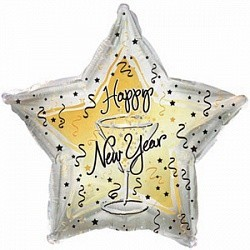 """Фольгированный шар в форме звезды """"С Новым годом"""" - фото 1"""