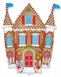 Пряничный домик на Рождество из фольги - фото 1