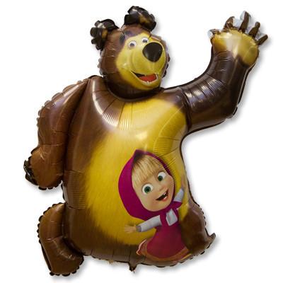 """Фольгированная фигура """"Маша и медведь"""" - фото 1"""
