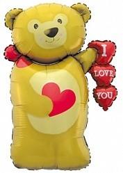 "Шарик-признание ""Медведь с сердечком"" - фото 1"