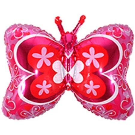 """Воздушный фольгированный шарик """"Бабочка Розовая"""" - фото 1"""