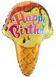 """Воздушный шар из фольги """"Мороженое с поздравлением"""" - фото 1"""