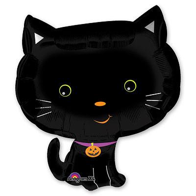 """Воздушный шар из фольги на Хэллоуин """"Черная кошка"""" - фото 1"""