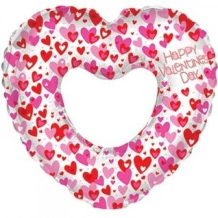 Воздушный шар в виде сердца на День всех влюбленных - фото 1