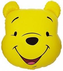 """Шарик из фольги """"Мишка улыбающийся"""" желтый - фото 1"""