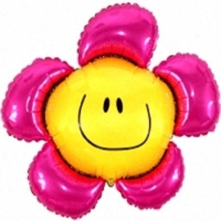 """Шарик в форме цветка """"Ромашка – Улыбашка"""" из фольги - фото 1"""