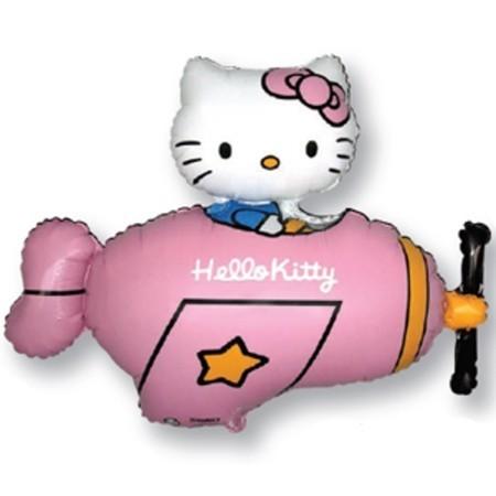 """Фольгированная фигура """"Hello Kitty в самолете"""" - фото 1"""