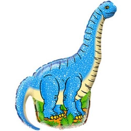 """Фольгированный шарик """"Динозавр голубой"""" - фото 1"""