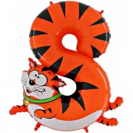 "Гелиевый шар-цифра 8 из фольги ""Кошка"" - фото 1"