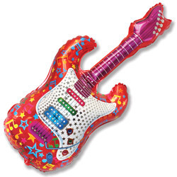 "Шар ""Розовая гитара"" на детский праздник - фото 1"