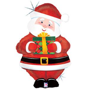 """Фольгированный шар """"Санта с подарком"""" - фото 1"""