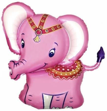 """Шарик из фольги """"Розовый слоник"""" - фото 1"""