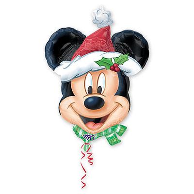 """Фольгированный воздушный шарик на Новый Год """"Микки Санта"""" - фото 1"""