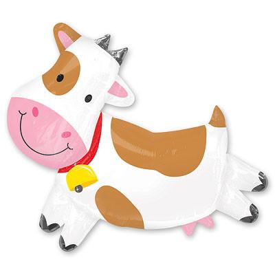 """Шарик из фольги """"Веселая корова"""" - фото 1"""