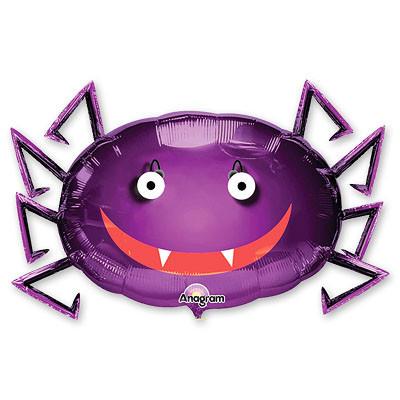 Фигурка паука в фиолетовом цвете из фольги на Хэллоуин - фото 1
