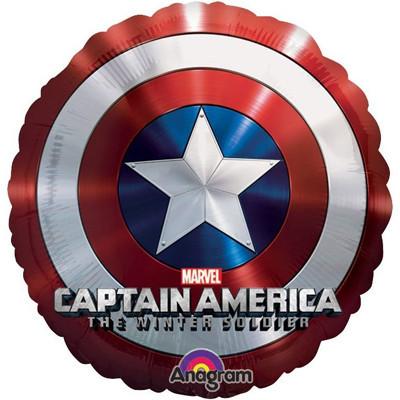 Фольгированный шар в виде щита Капитана Америки - фото 1