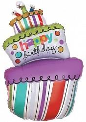 """Шар-поздравление в виде """"Торта на день рождения"""" - фото 1"""