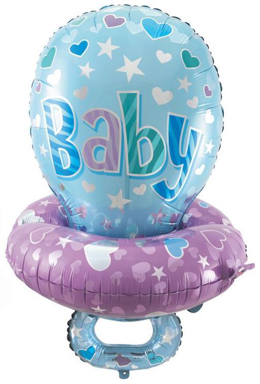 """Воздушный шар """"Соска"""" для новорожденного мальчика - фото 1"""