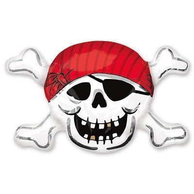 """Шар фигура """"Пиратский череп"""" из фольги - фото 1"""