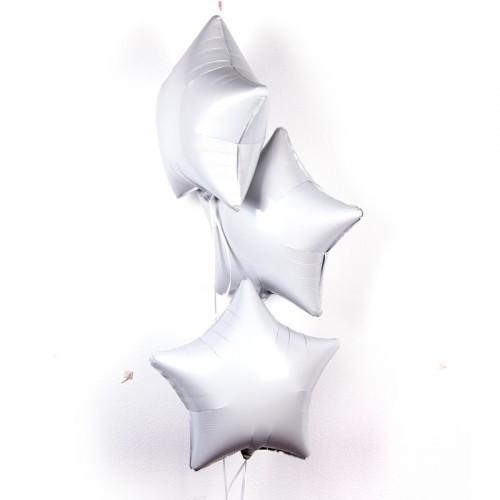 Фольгированная гелиевая звезда, Белый - фото 1