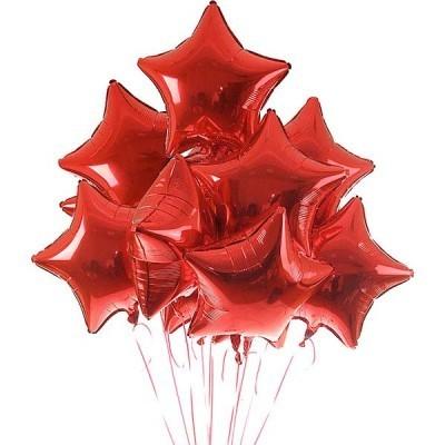 Фольгированная гелиевая звезда, Красный - фото 1