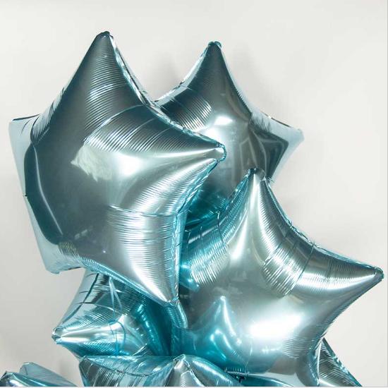 Фольгированный шар звезда, Голубой - фото 1