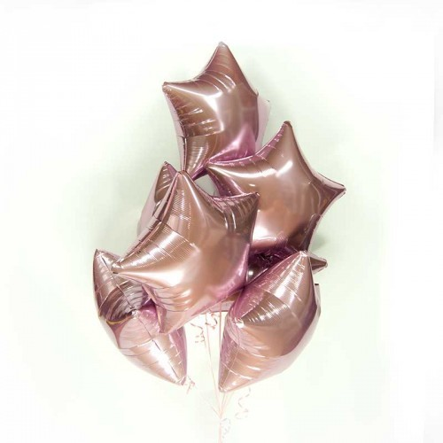 Воздушные шар из фольги в виде звезды, Розовый - фото 1