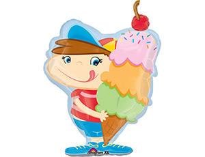 """Воздушный шарик """"Мальчик с мороженым"""" - фото 1"""