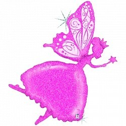 "Шар фигура ""Волшебная фея"" в розовом цвете - фото 1"