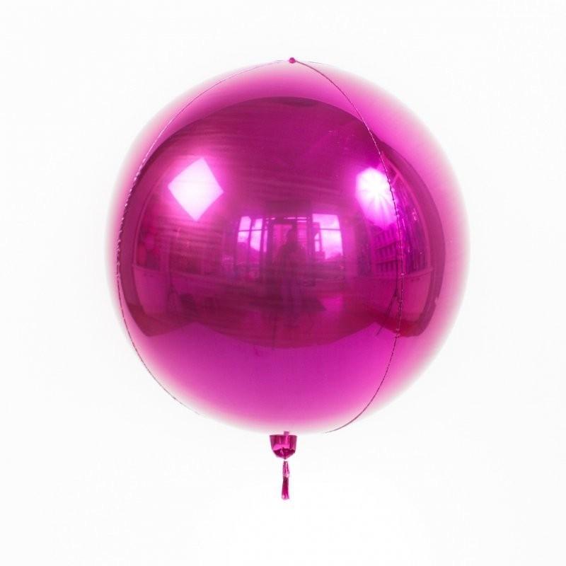 Гелиевый воздушный 3D шар сфера, Фуше - фото 1