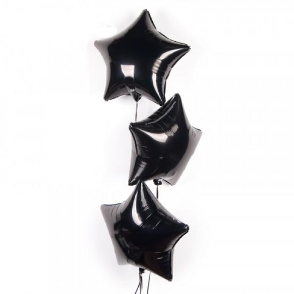 Воздушная фольгированная звезда, Черный - фото 1