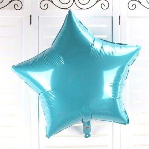 Фольгированный шар звезда, Бирюзовый - фото 1