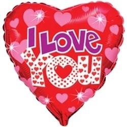 """Фольгированный шар в форме сердца """"I love you"""" - фото 1"""