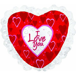 """Фольгированный шар в красно-белом цвете """"Я люблю тебя"""" - фото 1"""