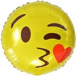 """Фольгированный надувной шар """"Эмодзи поцелуй"""" - фото 1"""