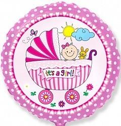 """Фольгированный воздушный шар на выписку """"Это девочка"""" - фото 1"""