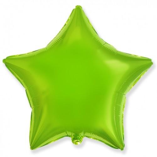Гелиевая фольгированная звезда, Лайм - фото 1