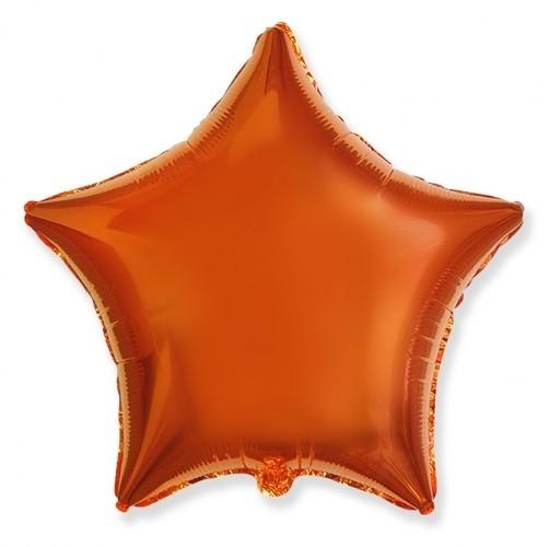 Гелиевая фольгированная звезда, Оранжевый - фото 1