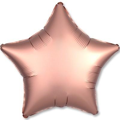 Гелиевая фольгированная звезда, Медный Сатин - фото 1