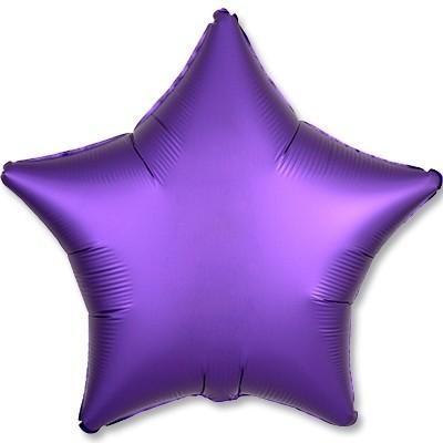 Гелиевая фольгированная звезда, Фиолетовый Сатин - фото 1