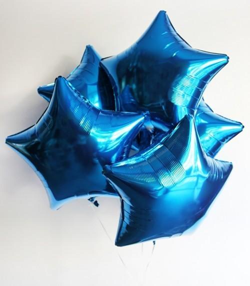 Фольгированный шар звезда, Синий - фото 1