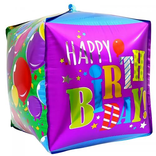 """Воздушный шарик """"Куб"""" из фольги на день рождения - фото 1"""
