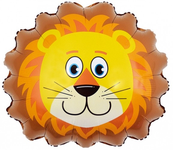 """Фигурка в форме шара """"львиной головы из фольги"""" - фото 1"""