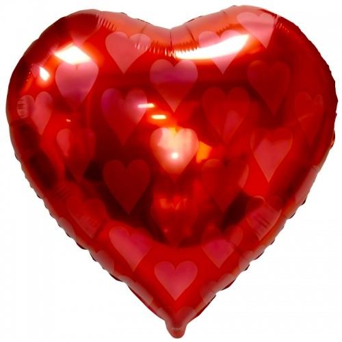 """Шарик из фольги в форме сердца """"Червы"""" - фото 1"""